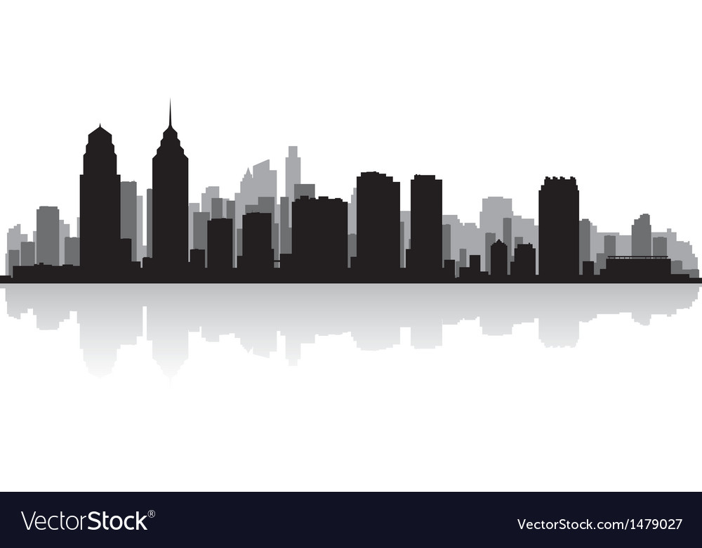 Philadelphia usa city skyline silhouette vector | Price: 1 Credit (USD $1)