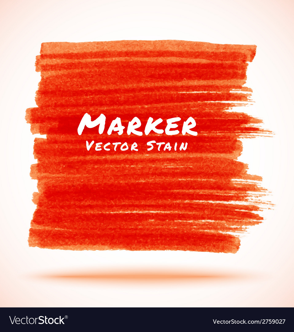 Red marker stain vector | Price: 1 Credit (USD $1)