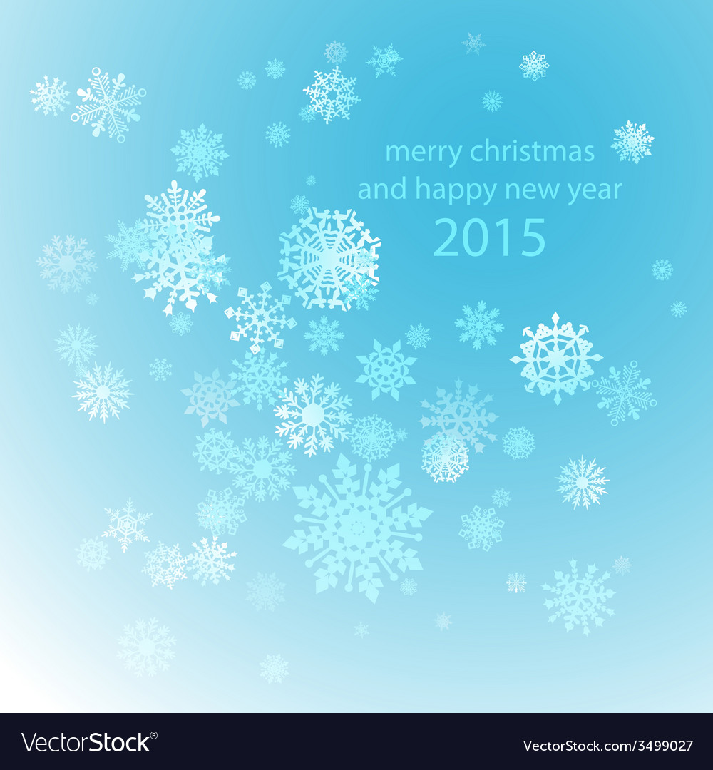 Snowflakes winter blue background snow decoration vector | Price: 1 Credit (USD $1)