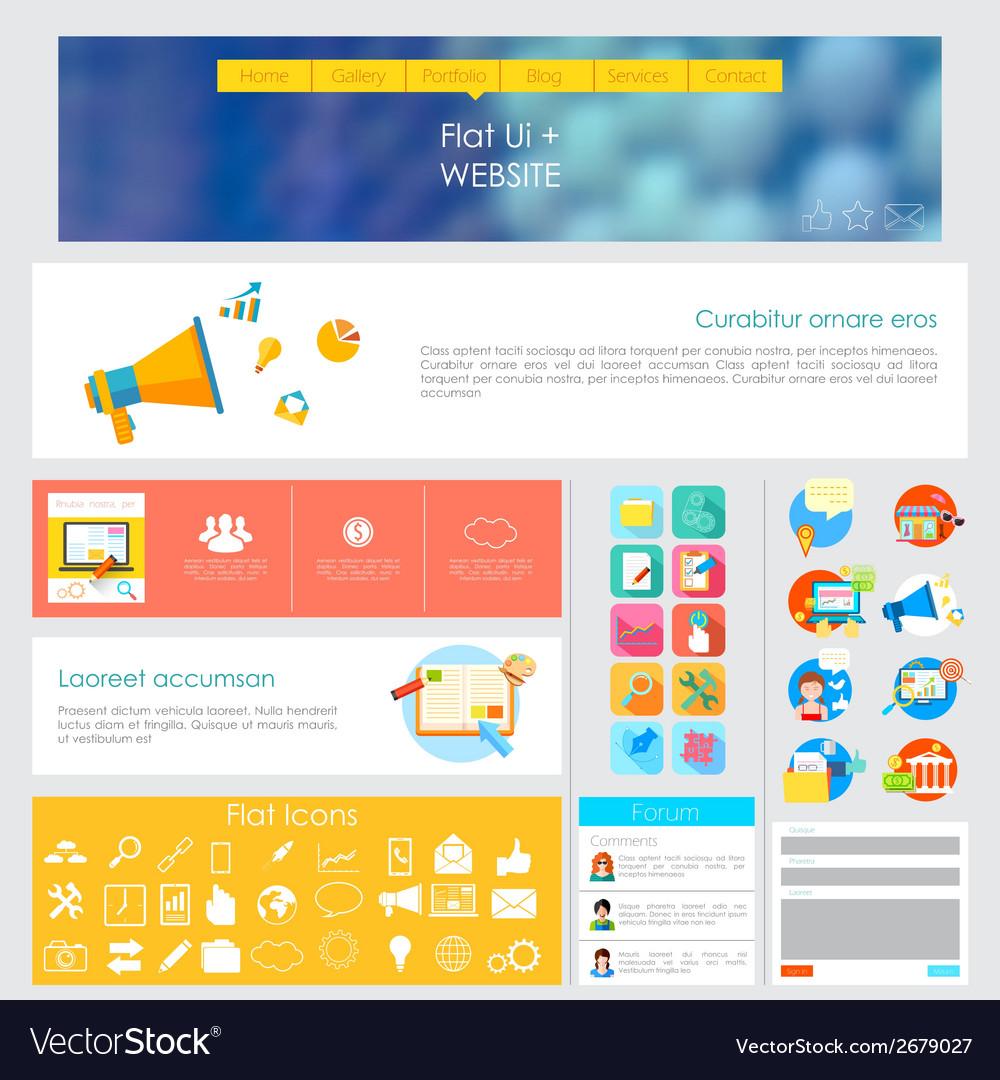 User interface design vector | Price: 1 Credit (USD $1)