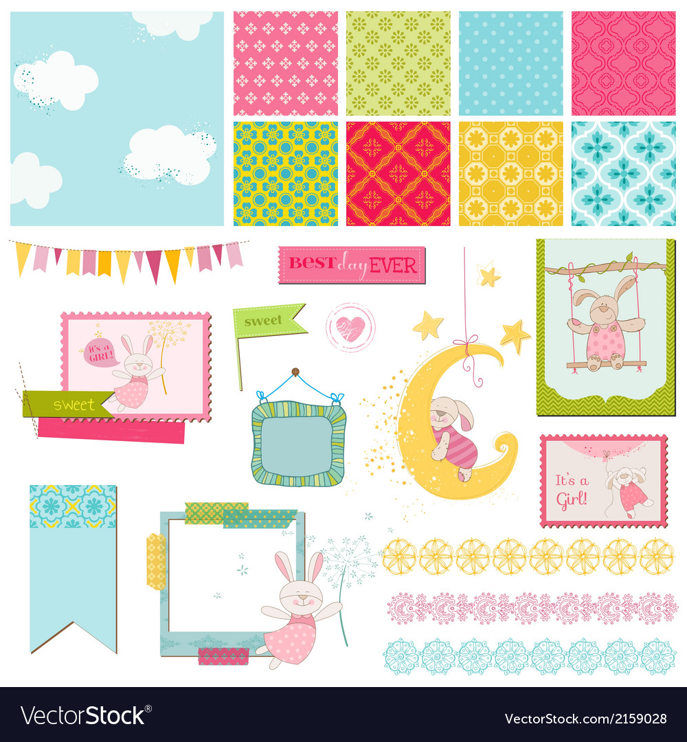 Design elements - baby bunny sweet vector | Price: 1 Credit (USD $1)