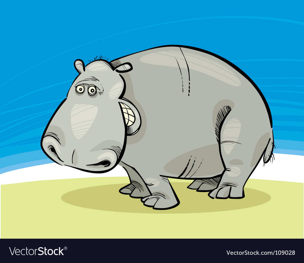 Funny hippopotamus vector | Price: 3 Credit (USD $3)