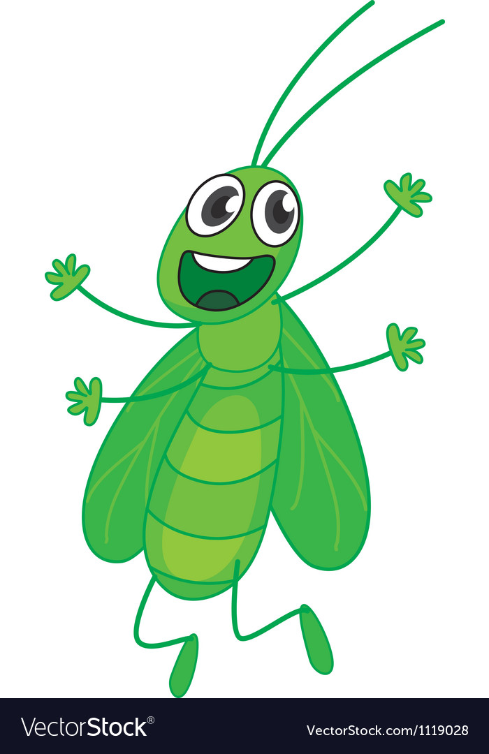 Happy grasshopper vector | Price: 1 Credit (USD $1)