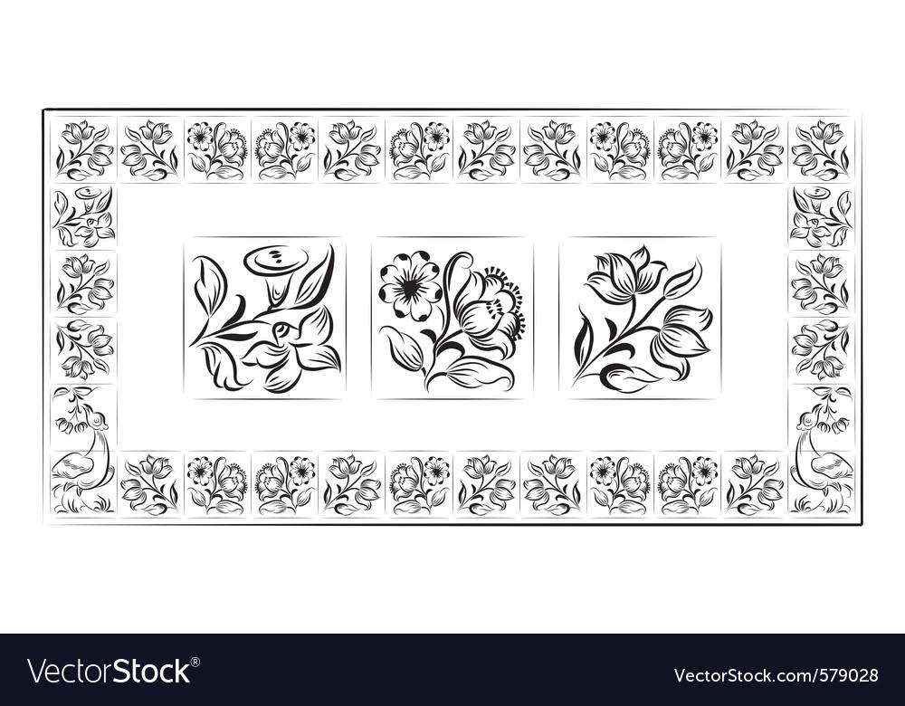 Old tiles portuguese frame vector | Price: 1 Credit (USD $1)