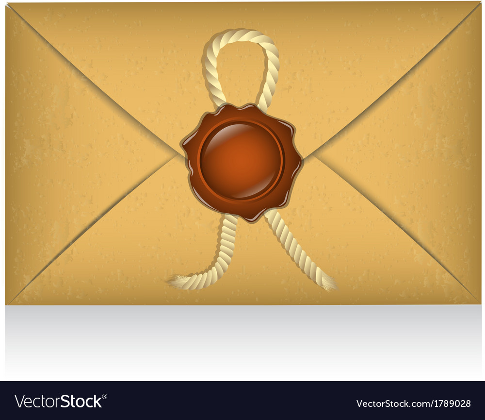 Sealed envelope with sealing wax vector | Price: 1 Credit (USD $1)
