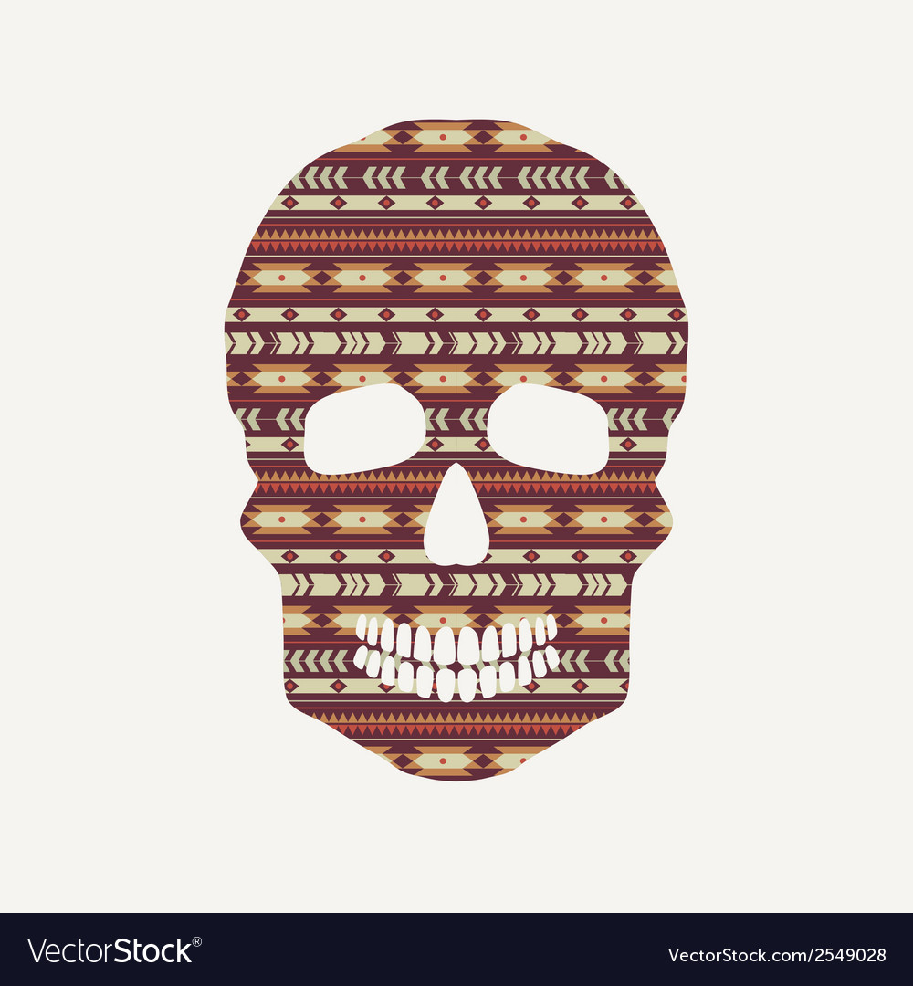 Skull with ethnic pattern vector | Price: 1 Credit (USD $1)