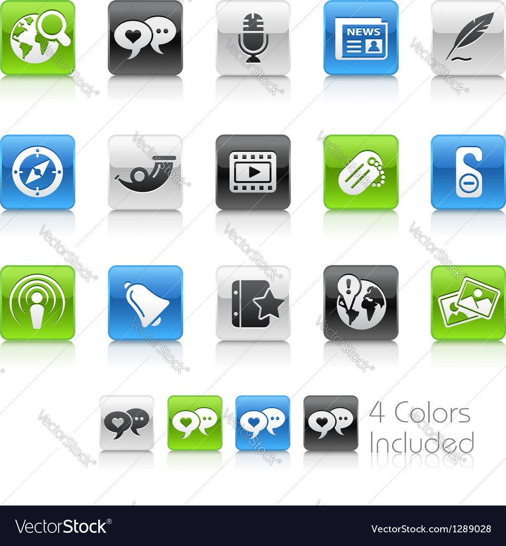 Social media clean series vector | Price: 1 Credit (USD $1)