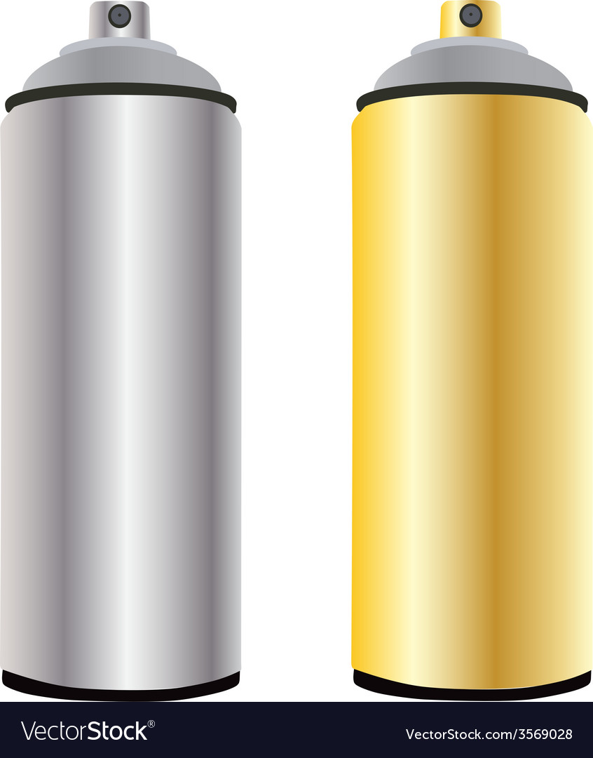 Spray bottle gold and aluminum vector | Price: 1 Credit (USD $1)