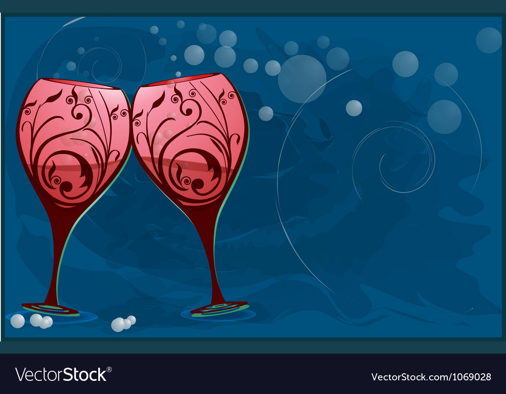 Wine glasses to toast vector | Price: 1 Credit (USD $1)