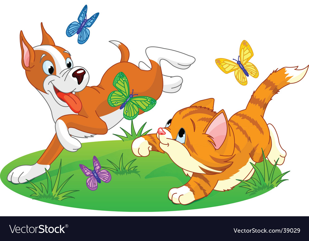 Cats and dogs vector | Price: 3 Credit (USD $3)