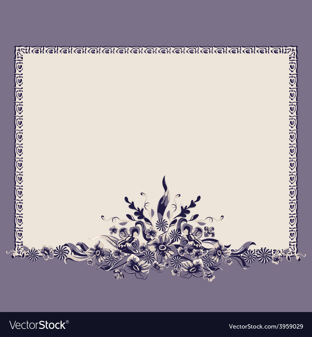 Frame bouquet vintage vector | Price: 1 Credit (USD $1)
