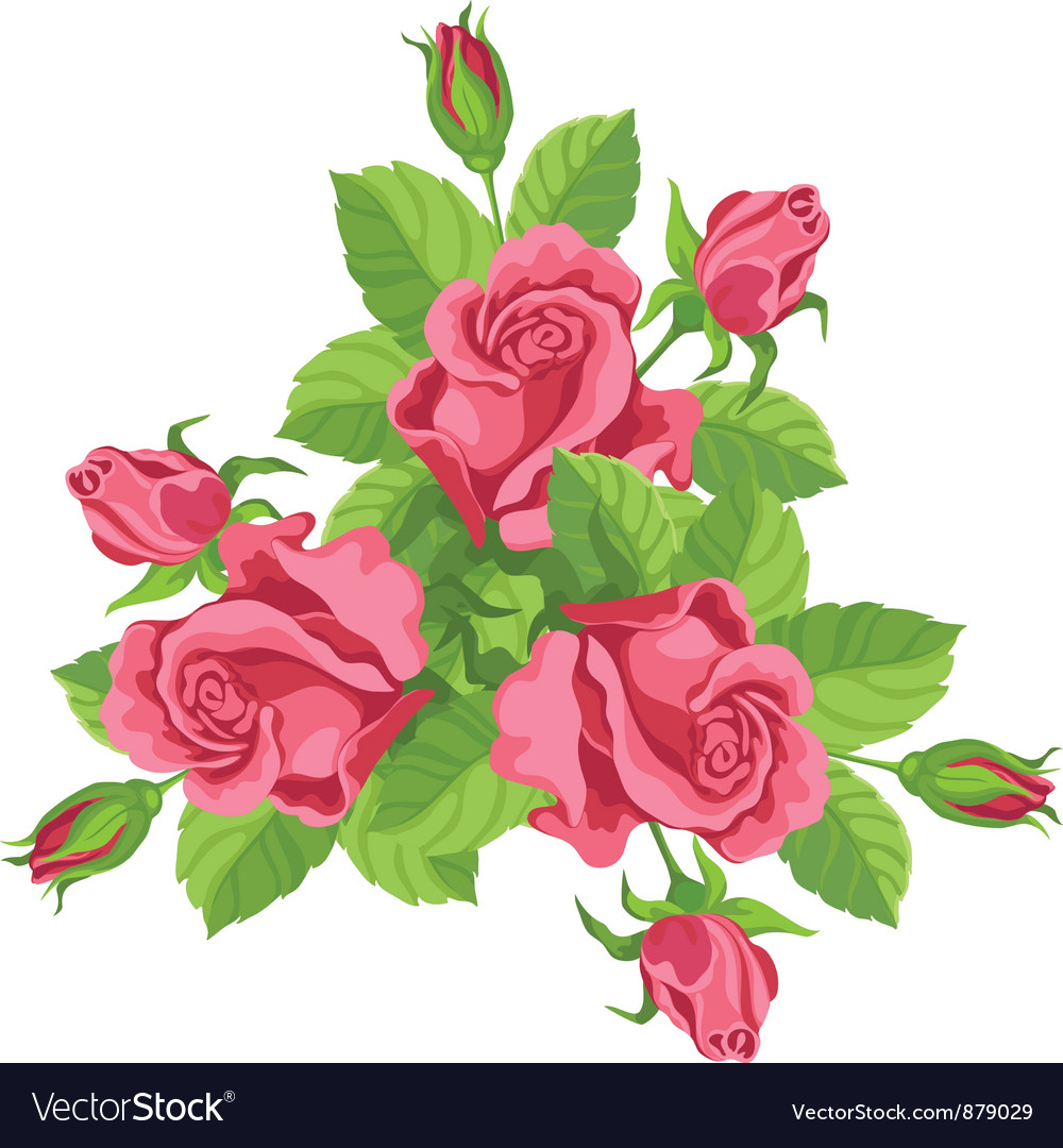 Funny bouquet of roses vector | Price: 3 Credit (USD $3)