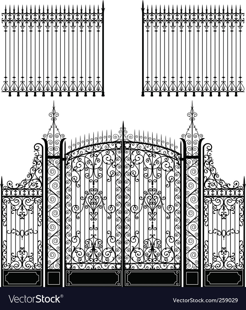 Gate and fences vector