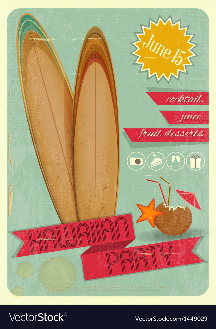Hawaiian party vector | Price: 1 Credit (USD $1)