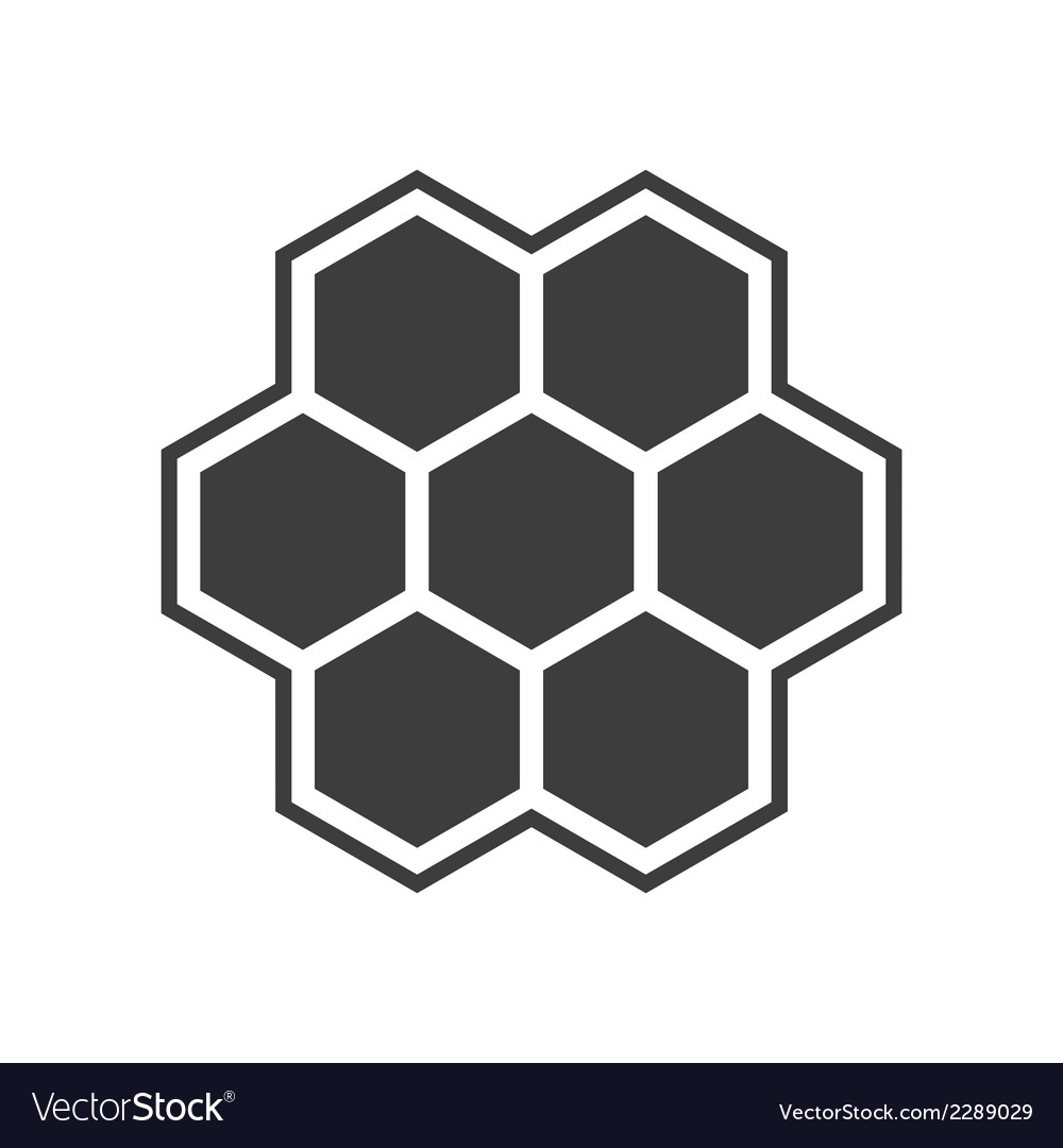 Hexagon icon vector | Price: 1 Credit (USD $1)