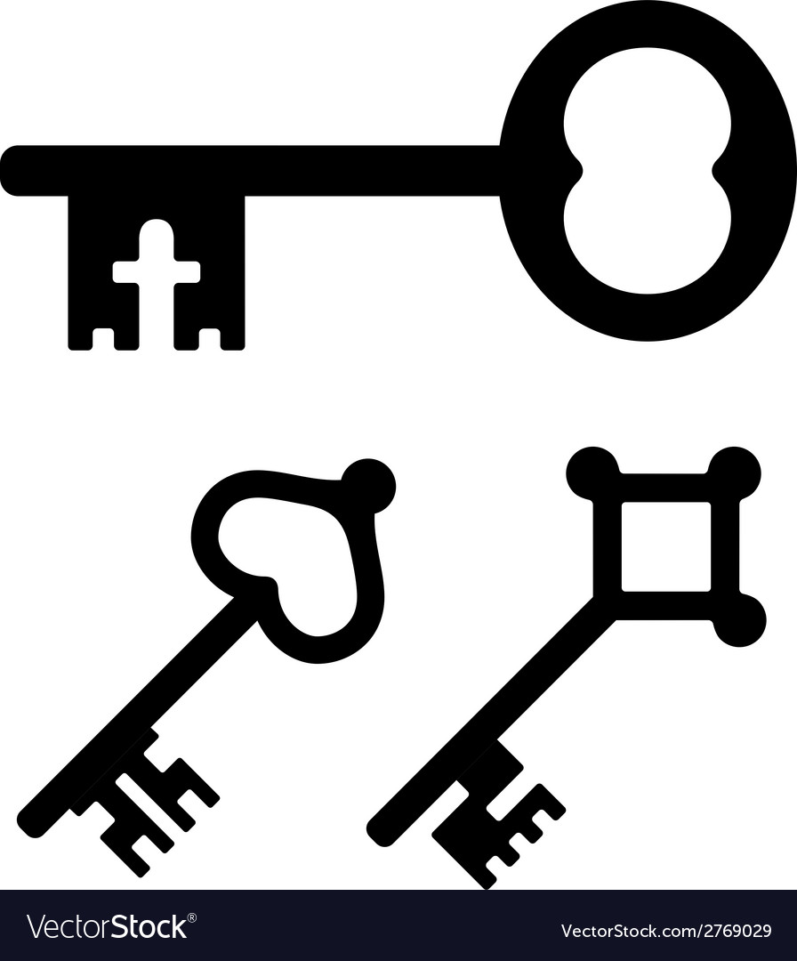 Medieval key symbols vector | Price: 1 Credit (USD $1)