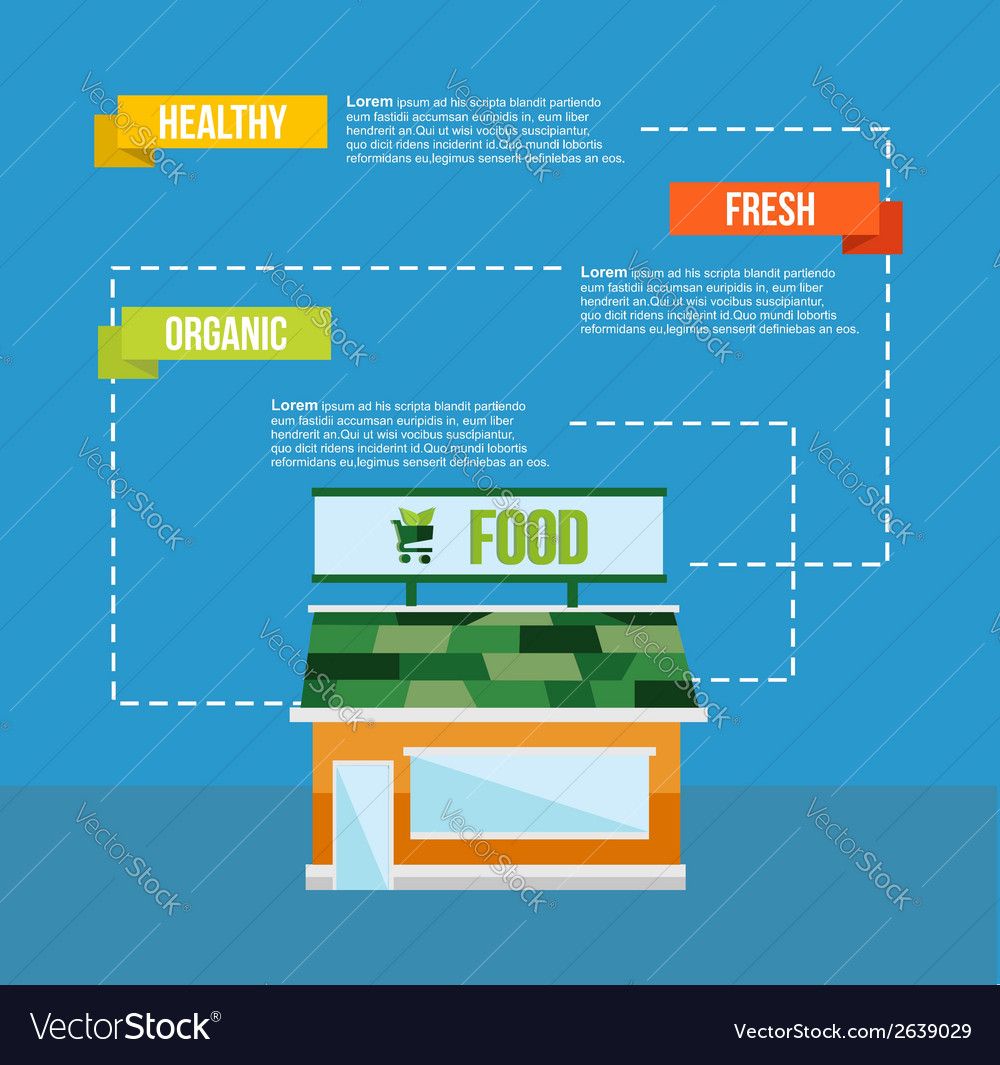 Organic food concept infograhics template vector | Price: 1 Credit (USD $1)