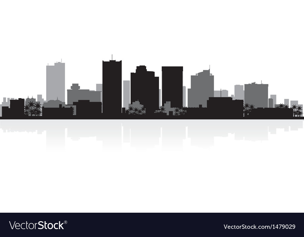 Phoenix usa city skyline silhouette vector | Price: 1 Credit (USD $1)