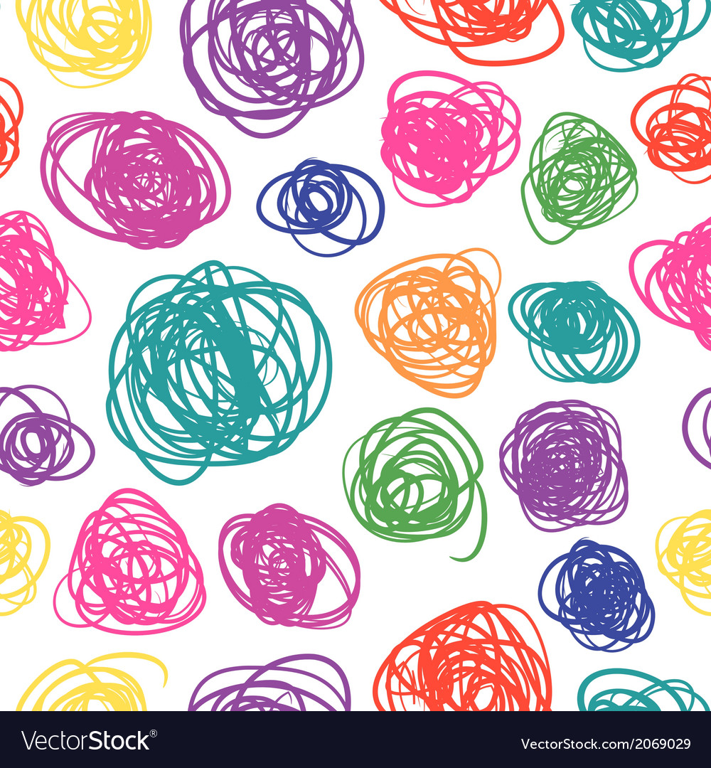 Seamless pattern with sketch vector | Price: 1 Credit (USD $1)