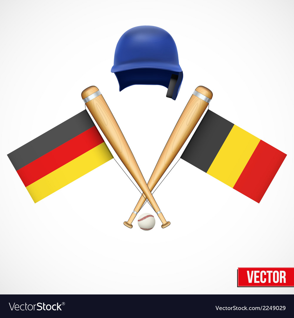 Symbols of baseball team germany and belgium vector | Price: 1 Credit (USD $1)