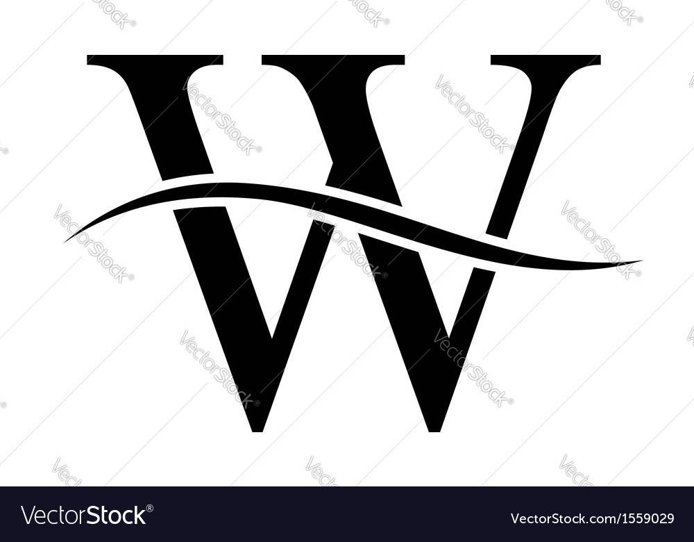 W alphabet logo vector | Price: 1 Credit (USD $1)