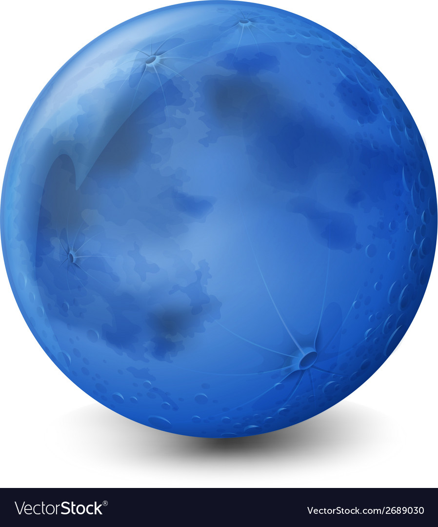 A blue planet vector | Price: 1 Credit (USD $1)