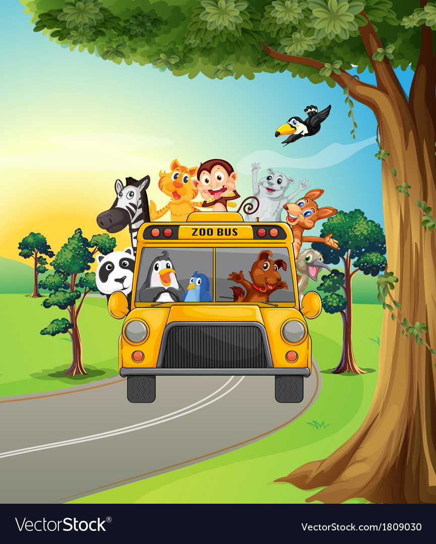 A group of animals travelling vector | Price: 1 Credit (USD $1)