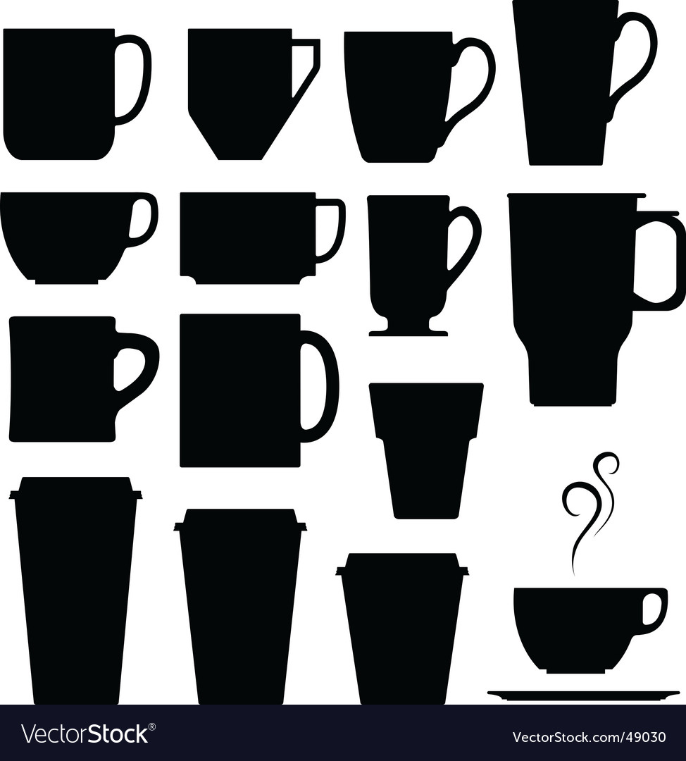 Coffee cups mugs and tea vector | Price: 1 Credit (USD $1)