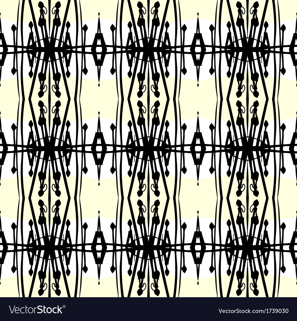 Geometric art deco pattern with thick black lines vector | Price: 1 Credit (USD $1)