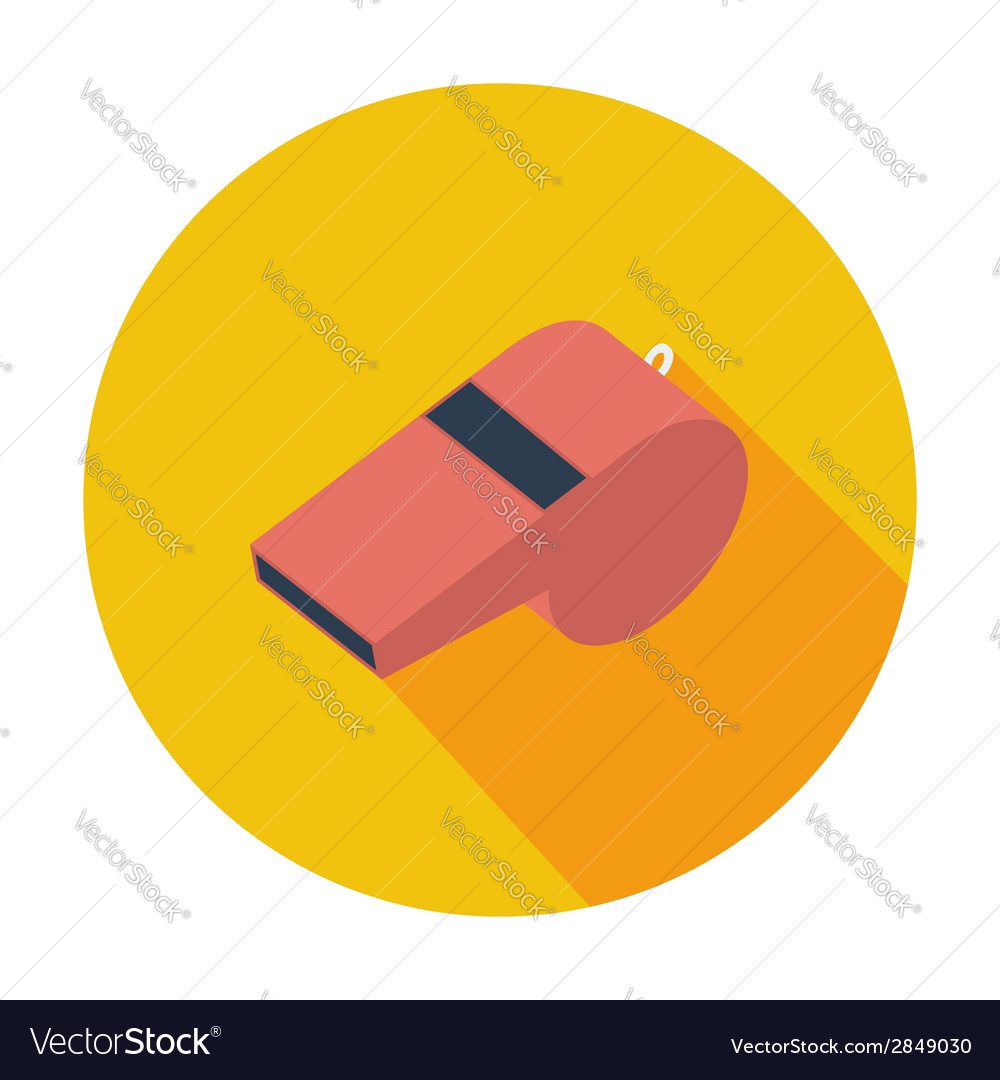 Icon sports whistle vector   Price: 1 Credit (USD $1)