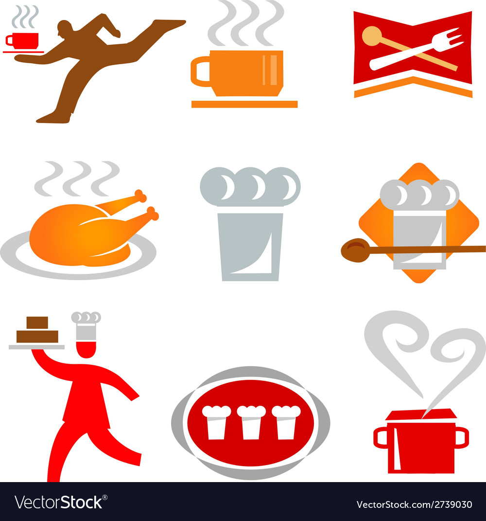 Icons cooking waiter vector | Price: 1 Credit (USD $1)