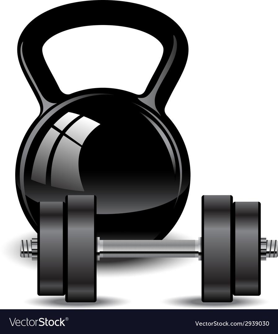 Kettlebell and dumbbell vector | Price: 1 Credit (USD $1)