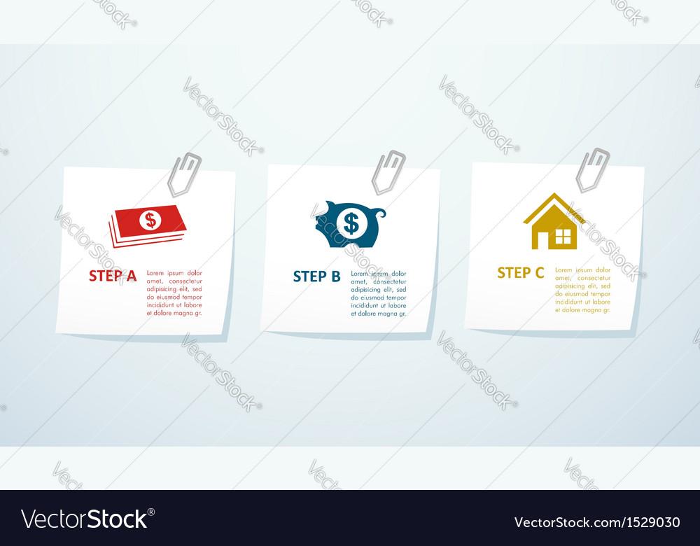 Real estate steps concept design vector | Price: 1 Credit (USD $1)