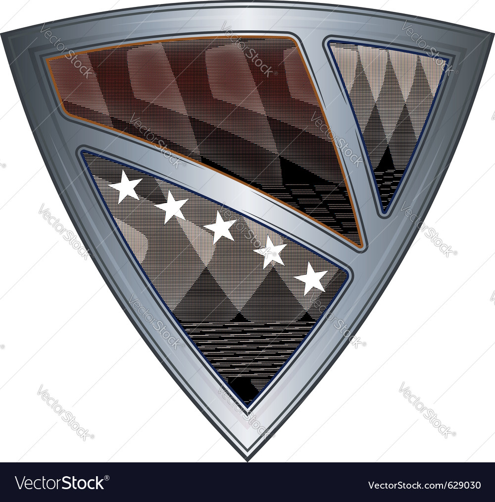 Steel shield with flag bosnia and herzegovina vector | Price: 1 Credit (USD $1)