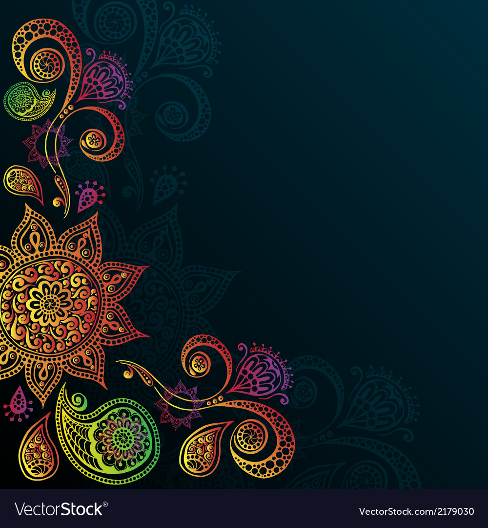Vintage background with mandala indian ornament vector | Price: 1 Credit (USD $1)