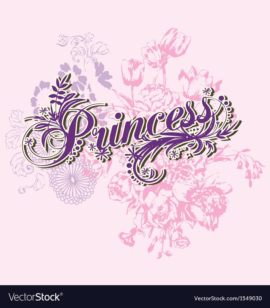 Wording of princess vector | Price: 1 Credit (USD $1)