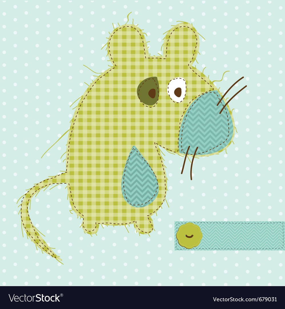 Cartoon mouse greeting card vector | Price: 1 Credit (USD $1)