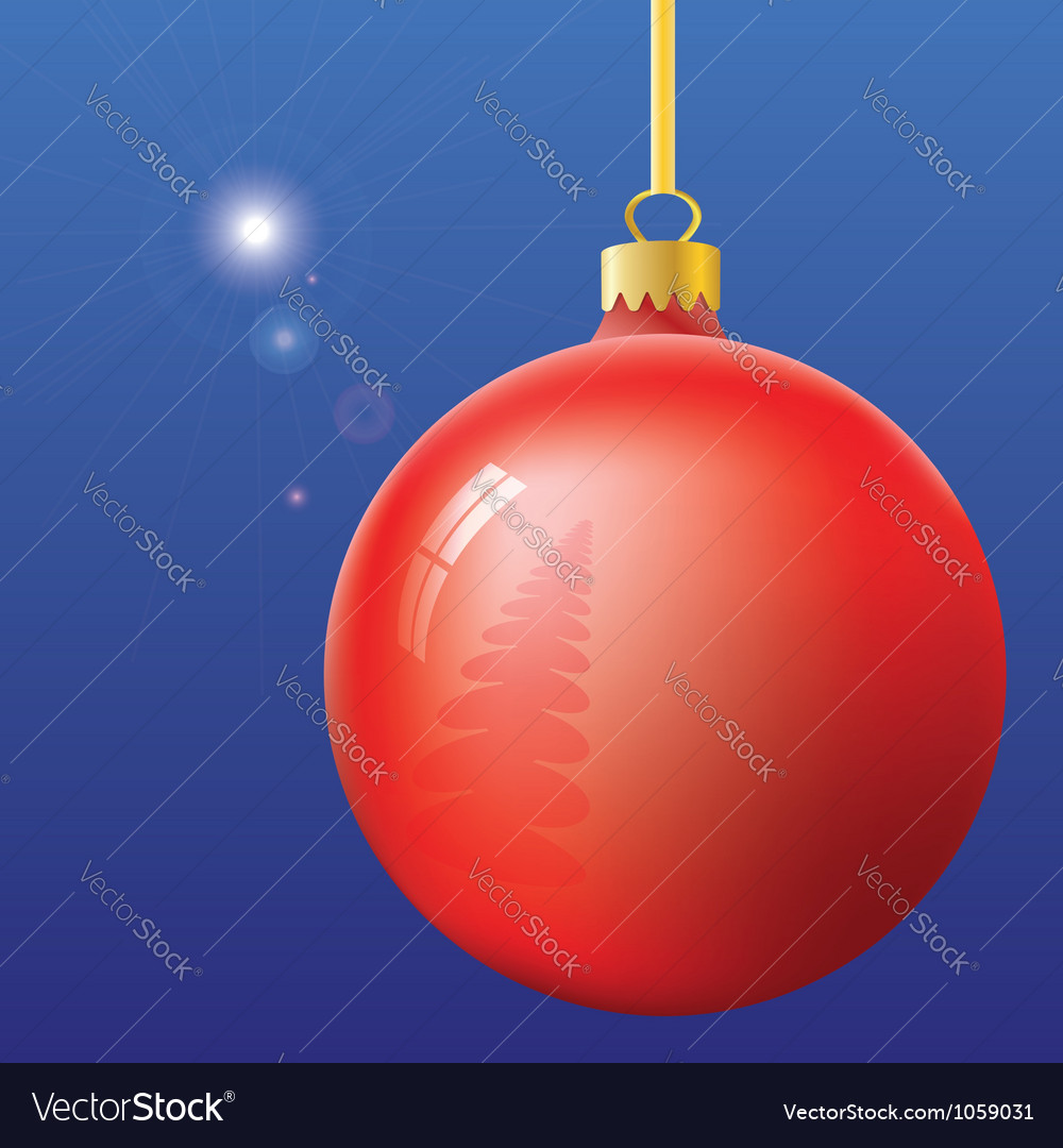Christmas eve first star and ball vector   Price: 1 Credit (USD $1)
