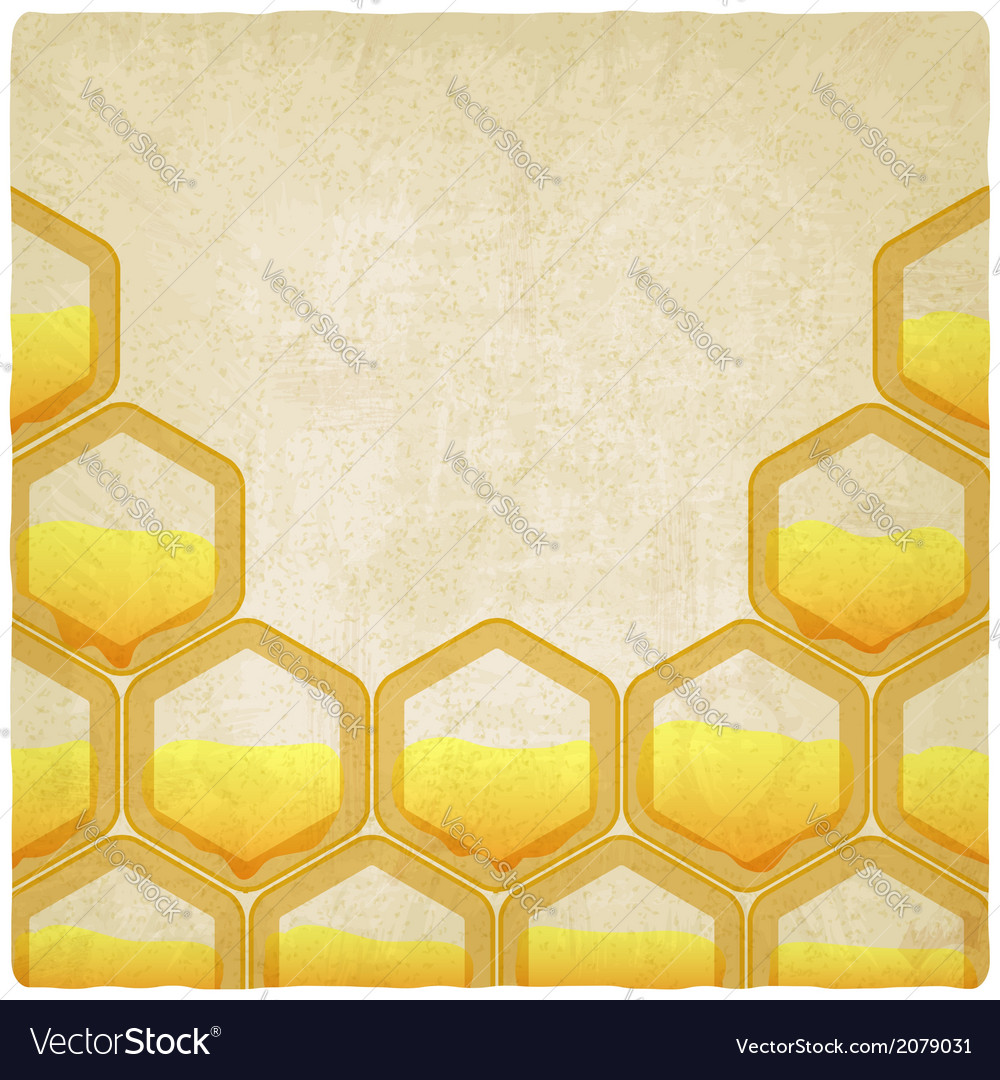Honeycomb old background vector | Price: 1 Credit (USD $1)