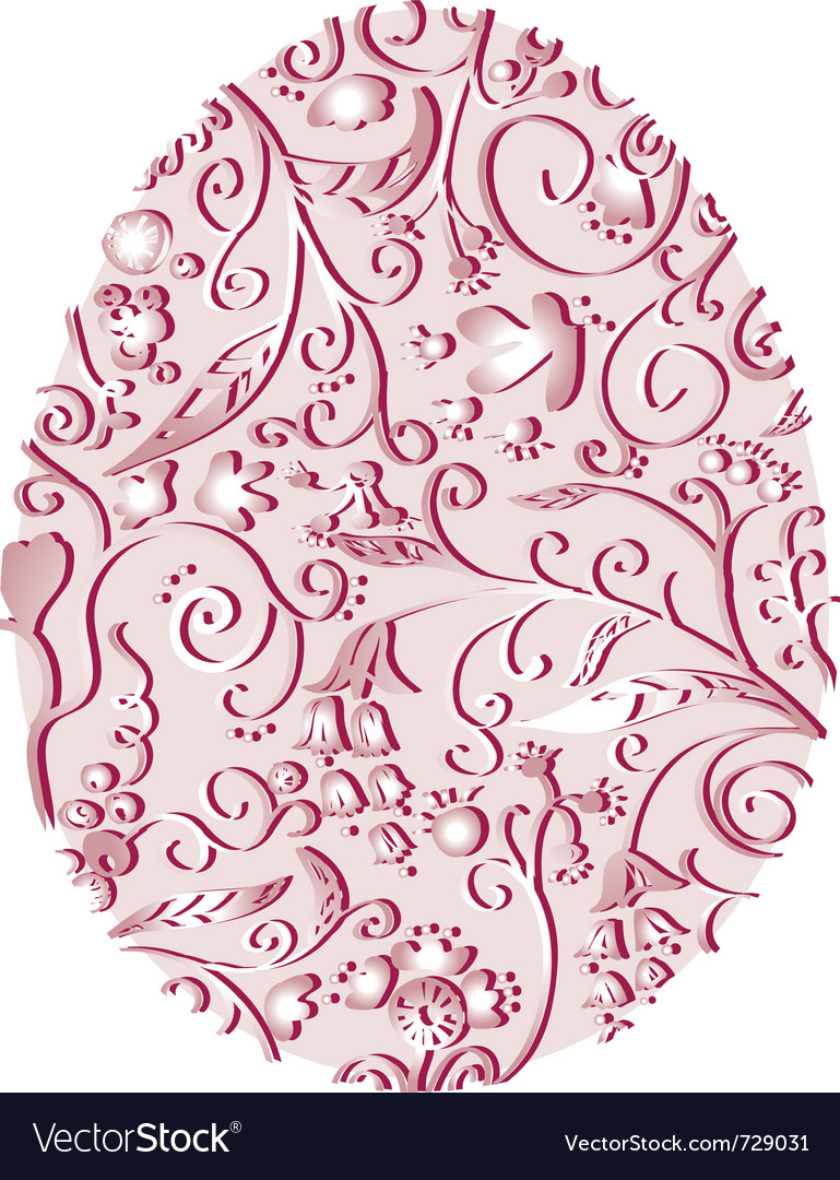 Lacy easter egg vector | Price: 1 Credit (USD $1)