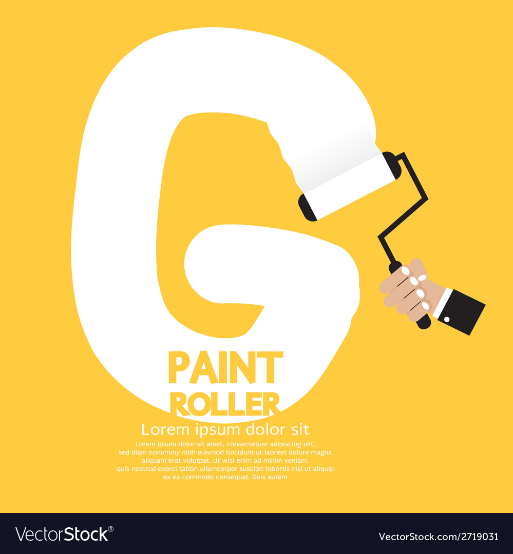 Paint roller alphabet g vector | Price: 1 Credit (USD $1)