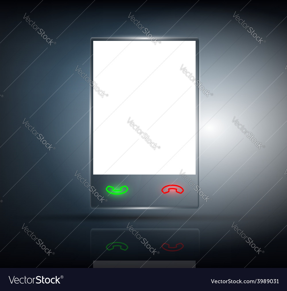 Phone with a transparent body on a dark background vector | Price: 1 Credit (USD $1)