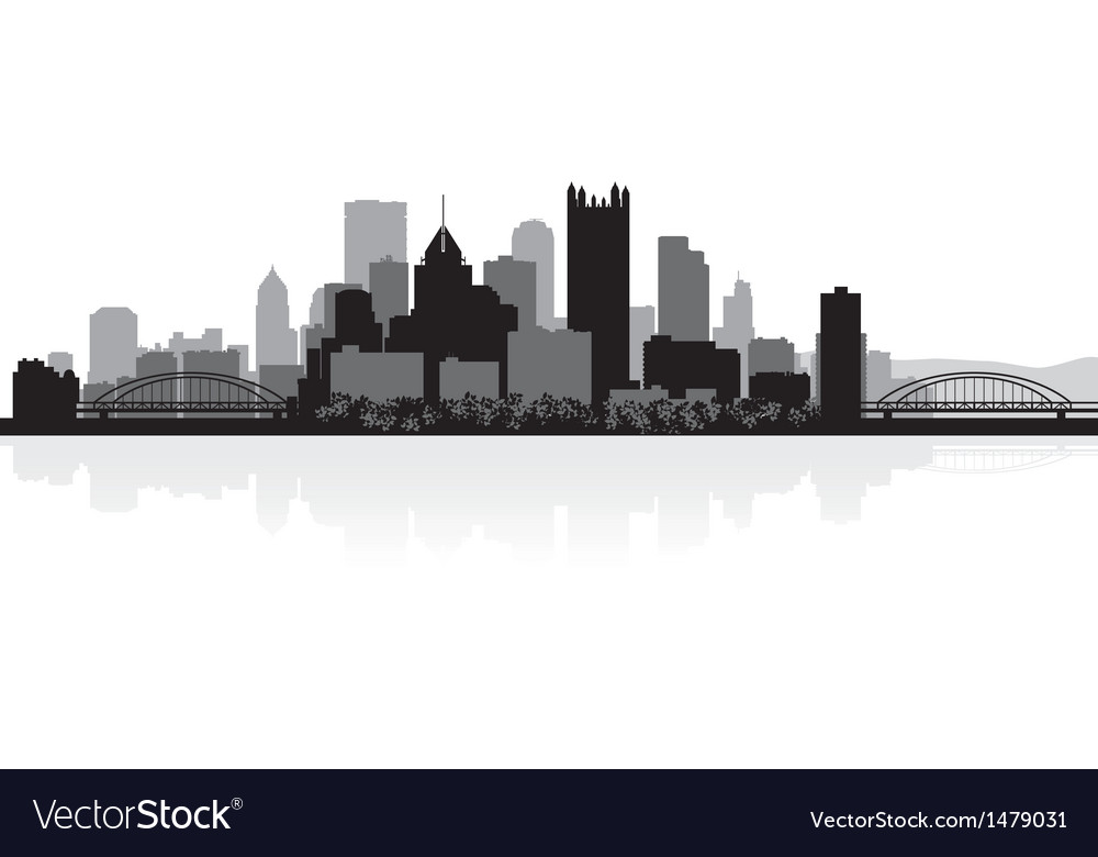 Pittsburgh usa city skyline silhouette vector | Price: 1 Credit (USD $1)