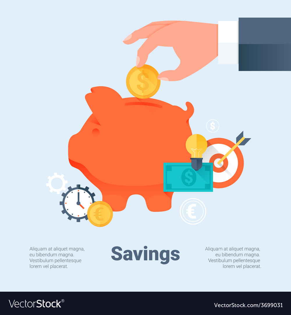 Saving money and investment business concept vector | Price: 1 Credit (USD $1)