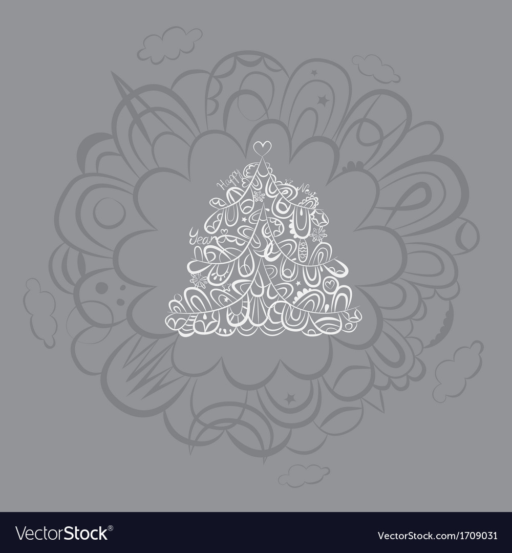 Silver fantasy holiday post card vector | Price: 1 Credit (USD $1)