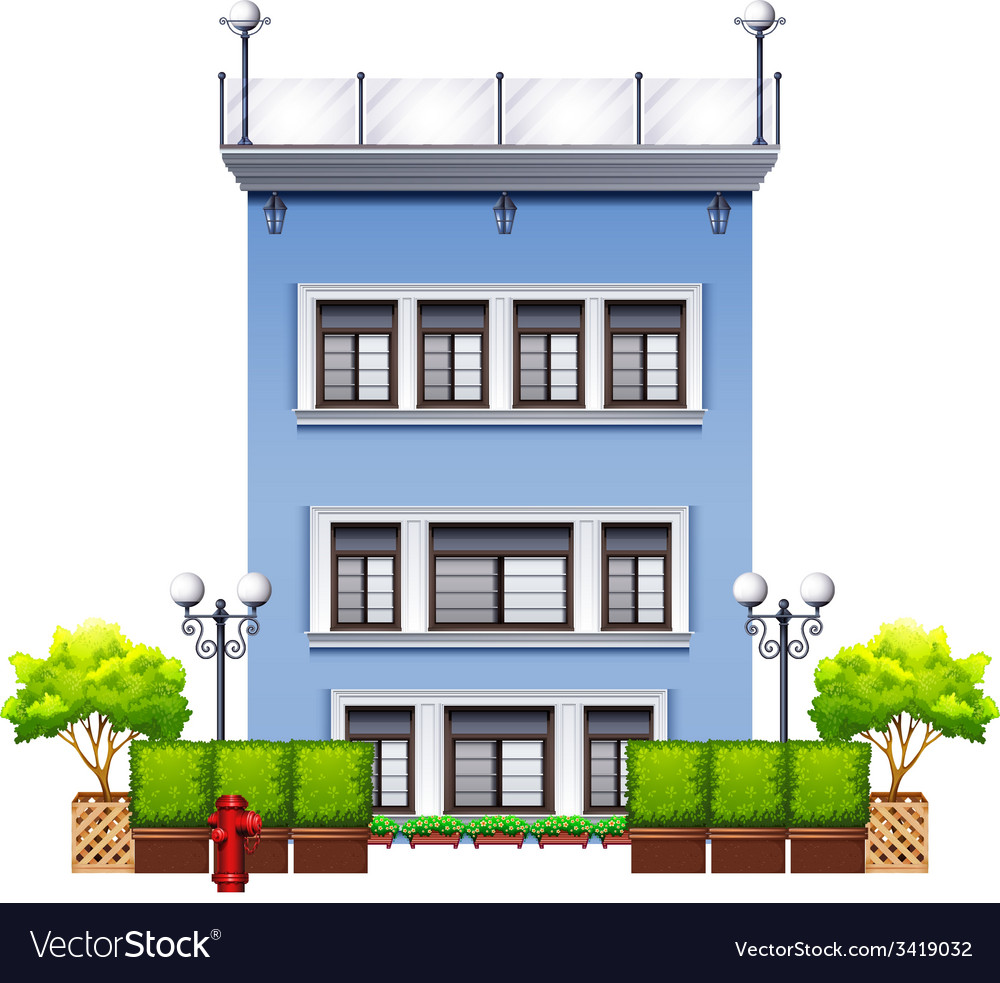 A tall commercial property vector | Price: 3 Credit (USD $3)