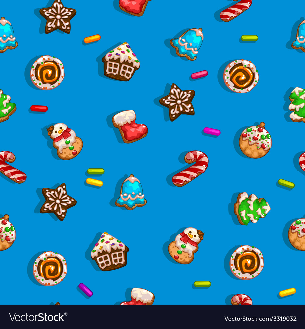 Background with gingerbreads vector | Price: 3 Credit (USD $3)