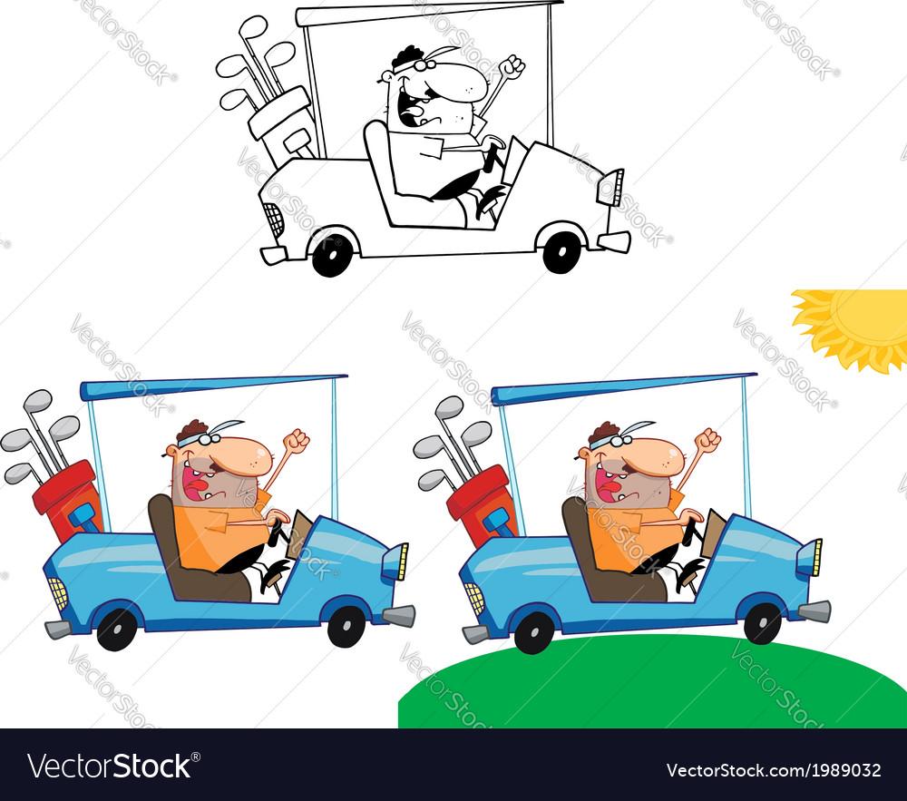 Cartoon golfer vector   Price: 1 Credit (USD $1)