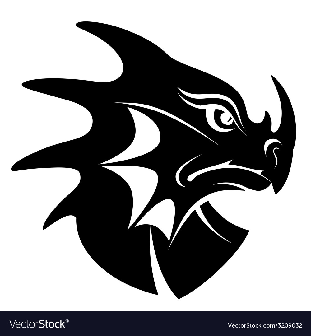 Dragon head symbol vector | Price: 1 Credit (USD $1)