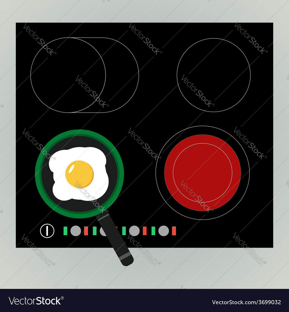 Fried egg in the pan vector | Price: 1 Credit (USD $1)
